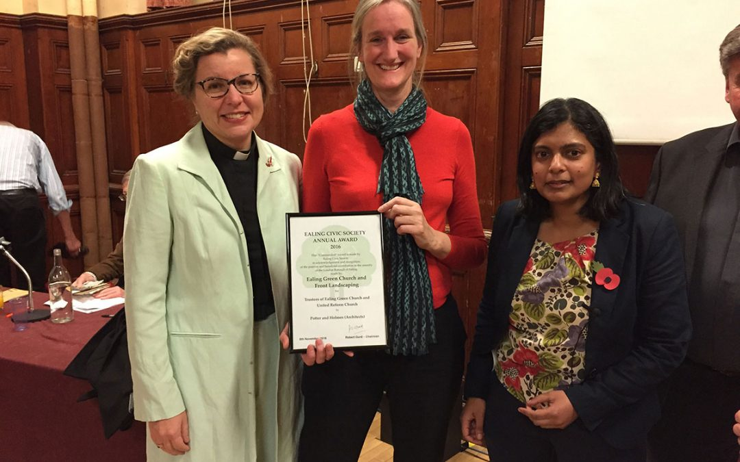 Ealing Green Church receives a Commendation from Ealing Civic Society