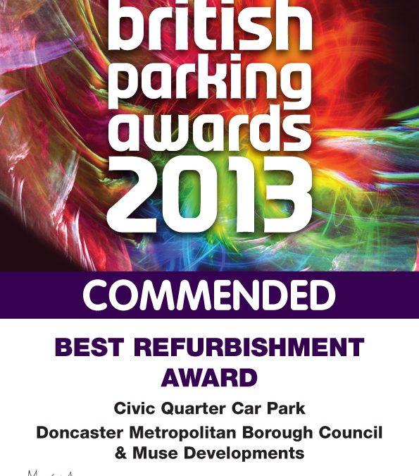 Civic Quarter Car Park in Doncaster Commended at the British Parking Awards